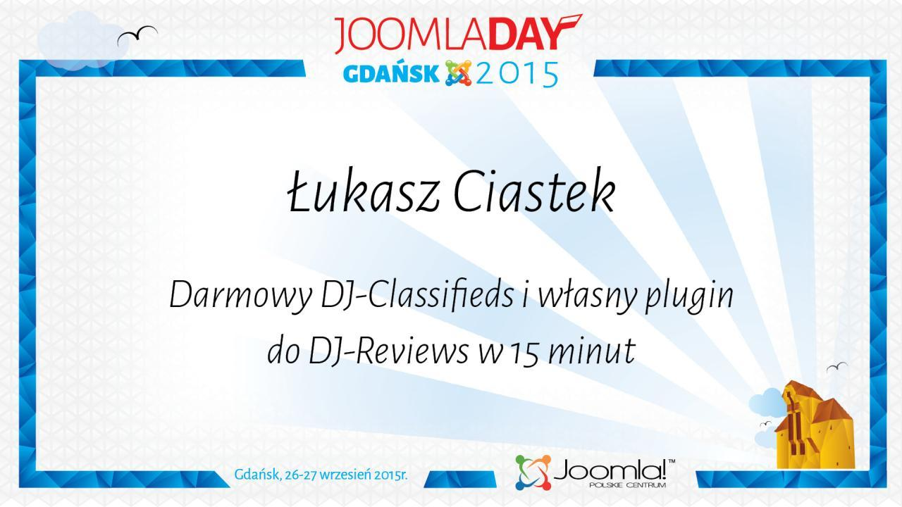 Łukasz Ciastek Darmowy DJ Classifields i własny plugin do DJ Reviews w 15 minut