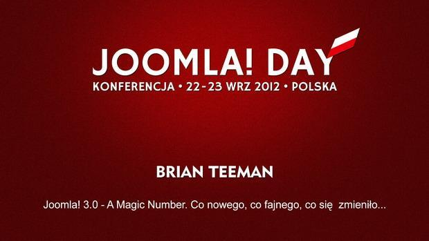 Brian Teeman: Joomla! 3 - A Magic Number